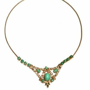Jewelry - Peking Glass Rhinestone Choker